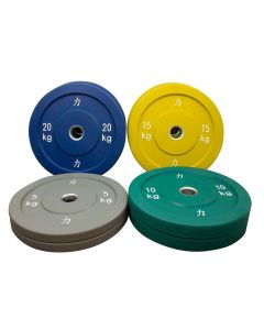 100kg Riot Bumper Plate Set - Coloured