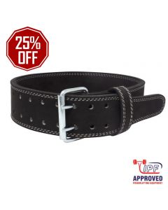 """Strengthshop 10mm 3"""" Wide Double Prong Buckle belt - IPF APPROVED"""
