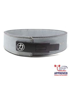 "Strengthshop 10mm Lever Belt 3"" Wide Grey - IPF Approved Size S & L ONLY"