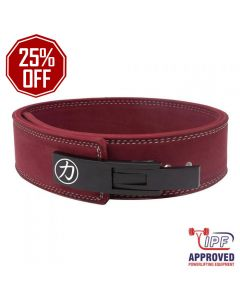 "Strength Shop 10mm Lever Belt 3"" Wide Maroon - IPF Approved"
