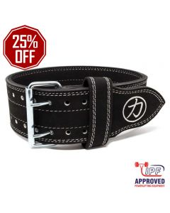 10mm Double Prong Buckle Belt - With Front Circle Logo - IPF APPROVED