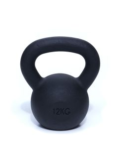 Kettlebell, Black Powder Coated, 12kg