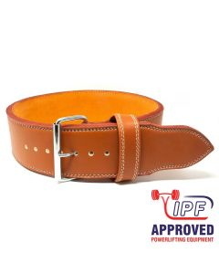 Strengthshop 13mm Single Prong Buckle belt - Brown Embossed - IPF APPROVED - S ONLY!
