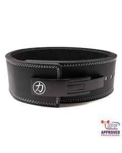 Strengthshop 13mm Lever Belt Embossed Logo Black - IPF Approved