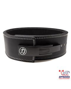 Strength Shop 13mm Lever Belt Embossed Logo Black - IPF Approved