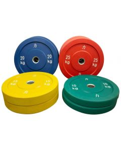 140kg Riot Bumper Plate Set - Coloured