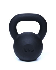 Kettlebell, Black Powder Coated, 16kg