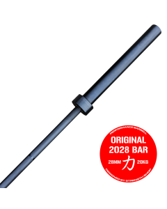 Strength Shop Original 2028 Olympic Bar - Black Zinc Coated