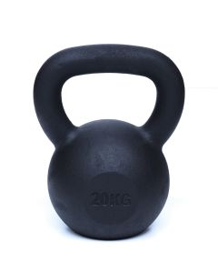 Kettlebell, Black Powder Coated, 20kg