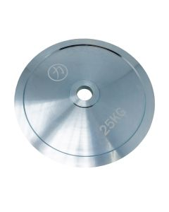 25kg Olympic Extra Thin Competition Style Steel Plate - Zinc Plated