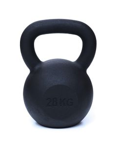 Kettlebell, Black Powder Coated, 28kg