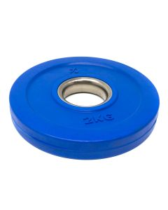 2kg Rubber Coated Plate - Coloured