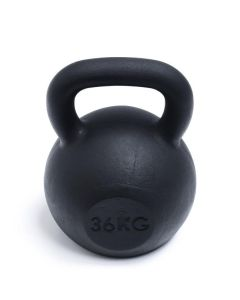 Kettlebell, Black Powder Coated, 36kg