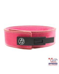 "Strengthshop 10mm Lever Belt 3"" Wide Pink - IPF Approved"