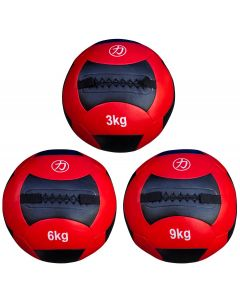 Strength Shop Medicine/Wall Ball - Red/Black 3kg - 12kg