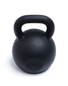 Kettlebell, Black Powder Coated, 40kg