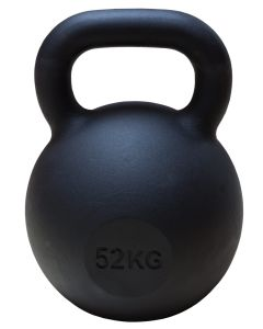 Kettlebell, Black Powder Coated, 52kg