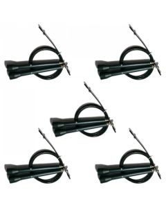 Deluxe Speed Cable Rope - Black - Set of 5