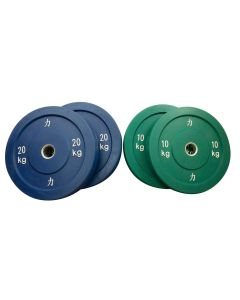 60kg Riot Bumper Plate Set - Coloured