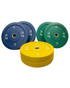 90kg Riot Bumper Plate Set - Coloured