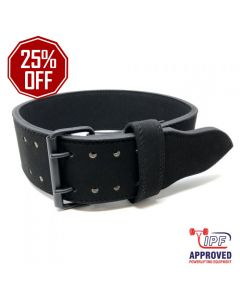 Strengthshop 10mm Double Prong Buckle All Black belt - IPF APPROVED