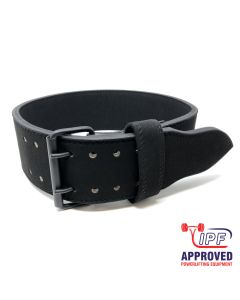 Strength Shop 10mm Double Prong Buckle All Black belt - IPF APPROVED