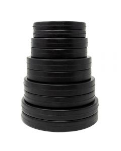 Rubber Coated Fractional Set (2 each 0.5, 1, 1.5, 2 & 2.5kg) - Black
