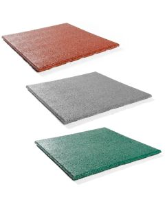 Coloured Rubber Gym Mat - 43mm (1m x 1m) - Minimum Order x 20, 6 week delivery
