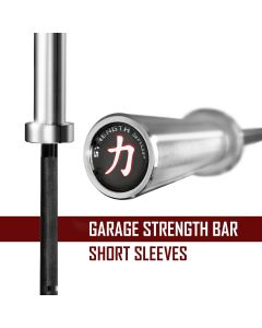 Strength Shop Garage Strength Bar - Black E-Coat Shaft with Chrome Sleeves
