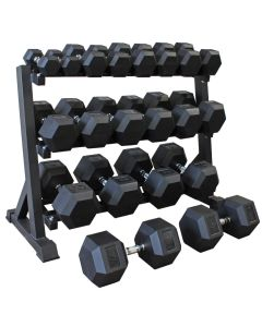 Hex Dumbbell Set (5kg - 50kg) - 10 pairs