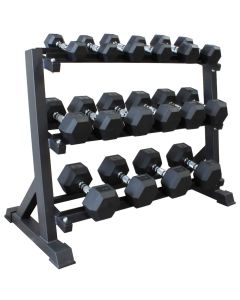 Hex Dumbbell Set (2.5kg - 20kg) - 8 pairs