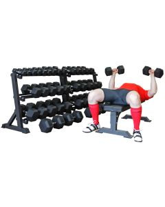 Hex Dumbbell Set - (2.5kg - 50kg) - 20 pairs