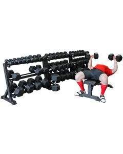 Hex Dumbbell Full Set (2.5kg - 75kg) - 25 pairs