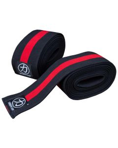 Strength Shop Thor Knee Wraps - Inferno Red / Black