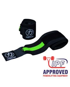 Strength Shop Thor Wrist Wraps - Green/Black - IPF APPROVED