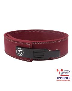 "Strengthshop 10mm Lever Belt 3"" Wide Maroon - IPF Approved"