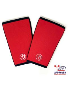 Strength Shop 7mm Inferno Neoprene Knee Sleeves - Red - IPF Approved (Pair)
