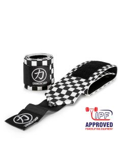 Strength Shop Thor Wrist Wraps - Black/White Checkered - IPF APPROVED