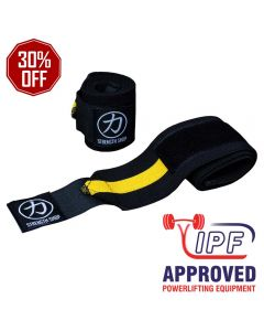 Strengthshop Thor Wrist Wraps - Yellow/Black - IPF APPROVED