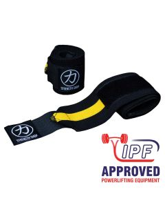 Strength Shop Thor Wrist Wraps - Yellow/Black - IPF APPROVED