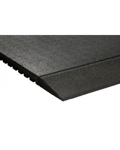 Tapered Rubber Gym Mat Edge - 43mm (1000mm x 200mm)