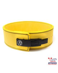 Strength Shop 10mm Lever Belt - Yellow - IPF Approved - SIZE XS ONLY