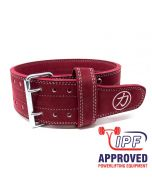 Strength Shop 10mm Double Prong Buckle Belt - Maroon - IPF APPROVED