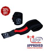 Strengthshop Thor Wrist Wraps - Inferno Red / Black - IPF APPROVED
