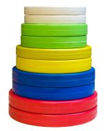 Rubber Coated Fractional Set (2 each 0.5, 1, 1.5, 2 & 2.5kg) - Coloured