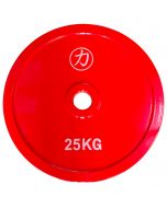 25kg Olympic Extra Thin Competition Style Steel Plate - Red