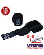 Strength Shop Thor Wrist Wraps - Black - IPF APPROVED