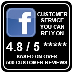 Customer service you can rely on. 4.8/5 based on 500 customer reviews on Facebook